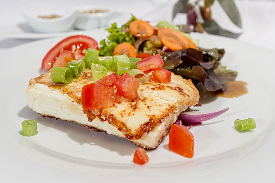 Baked Feta Cheese Haute Cuisine Salad Baked Cheese Close-up Day Feta Feta Cheese Fetakäse Food Food And Drink Freshness Healthy Eating Indoors  Indulgence No People Plate Ready-to-eat Serving Size SLICE Temptation Tomato