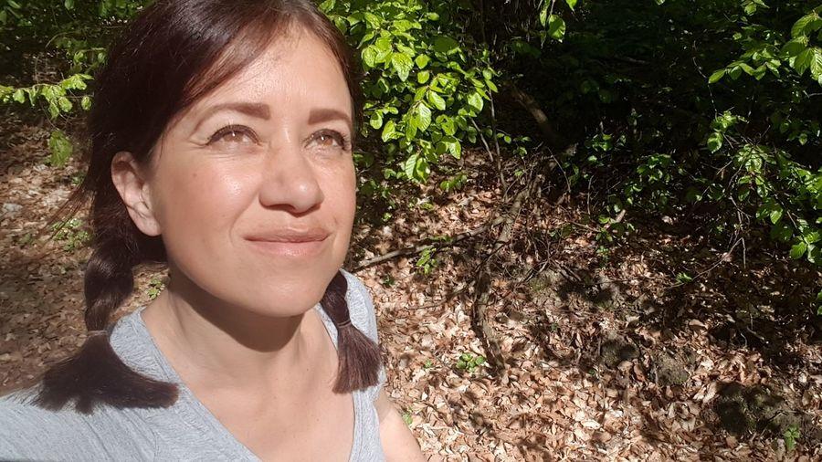 Enjoying spring Forestwalk Enjoying The View Enjoying Nature Nature Photography Nature Forest Photography Springtime Sunshine Tree Portrait Women Headshot Human Face Rural Scene Woods Forest Growing Tree Trunk WoodLand Branch