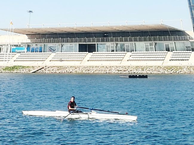 Flying High One Person Water Sport Outdoors Sky Nature Tranquil Scene Beauty In Nature Tranquility EyeEmNewHere Women Around The World Capture The Moment REM Rowing Rowing Team TCPM