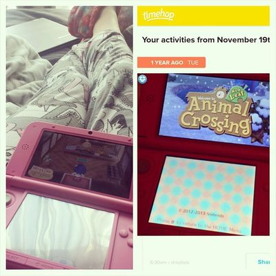 Awkward doing the same thing a year later. Timehop Animalcrossing Pyjamas Nintendo