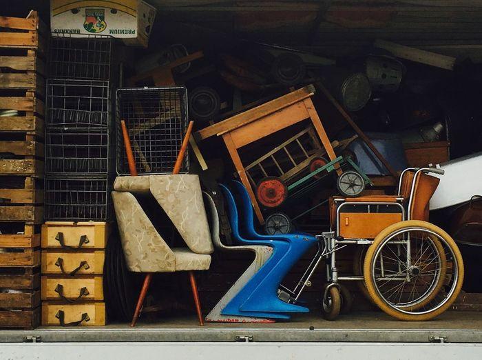 Berliner Ansichten Day Flea Markets No People Old Is Gold Stack Still Life Transportation