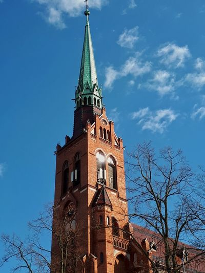 Church Church Architecture Church Tower Heritage Site Sky Clouds And Sky Blue Sky IMography Building Architecture Tree City Bare Tree Blue History