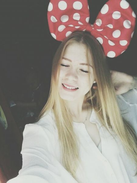 Mickey Mouse Blonde Girl Happy That's Me