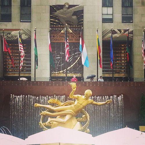 Newyork USA Gold Rockfeller center like
