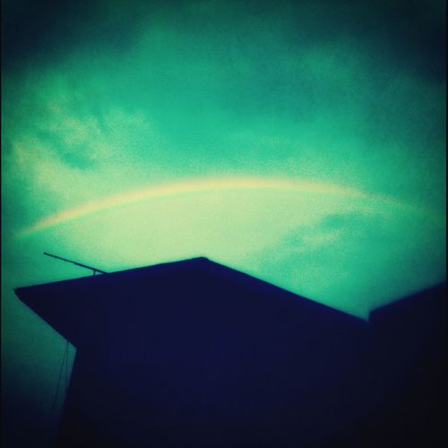 rainbow in yesterday