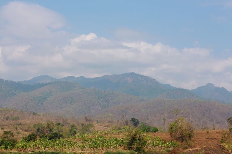 Mountains Fall Season Landscape No People Outdoors North Thailand South East Asia
