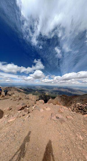 Large view of Pikes Peak Summit. Pikes Peak Summit Colorado Mountain Photography Motorola Photography Fun Shots