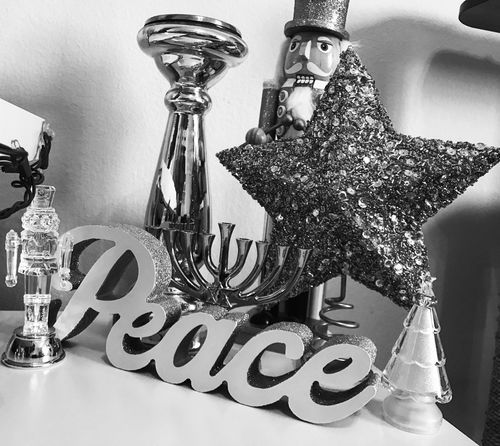 Feliz Navidad MerryChristmas Merry Christmas Feliznavidad Happy Holidays! Monochrome Blackandwhite Lgarciaphoto Light And Shadow Party - Social Event Indoors  Wineglass One Person Adults Only Adult People Peace Love Family Bnw_friday_eyeemchallenge Bnw Bnw_collection Light Contrast Shadow Reflection