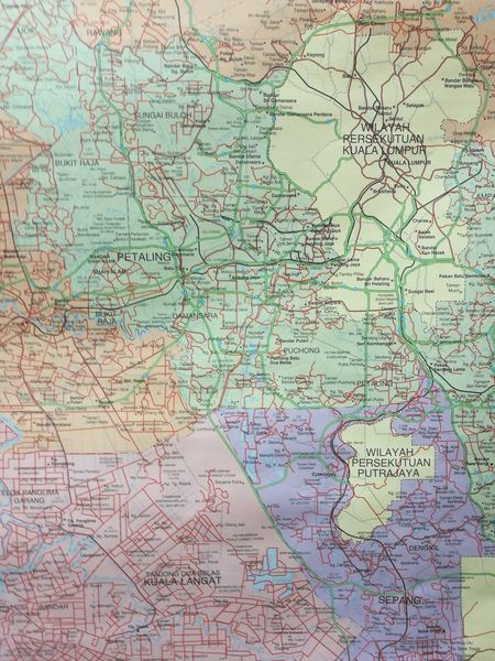 Selangor Malaysia Map Aerial