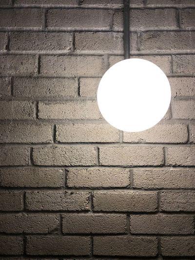 Lunacy. Moon Texture Lighting Background Wall Brick Circle Hanging Outdoors Illuminated No People Full Frame Day EyeEmNewHere