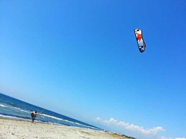 Kitesurfing On The Beach Way To Life Flying A Kite