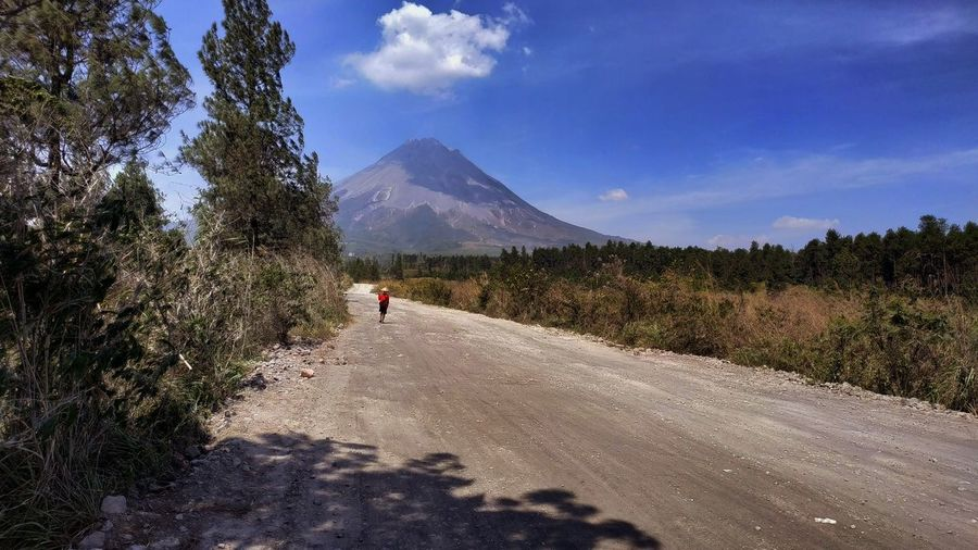 Adventure on Mount Merapi, an active volcano Mountain View Nature Plant Tranquility Traveling Trees Active Volcano Adventure Beauty In Nature Cloud - Sky Happy Time Landscape Mountain Mountain Peak Mountain Range Outdoors Sky Tranquil Scene Travel Destinations Trees And Sky Volcano