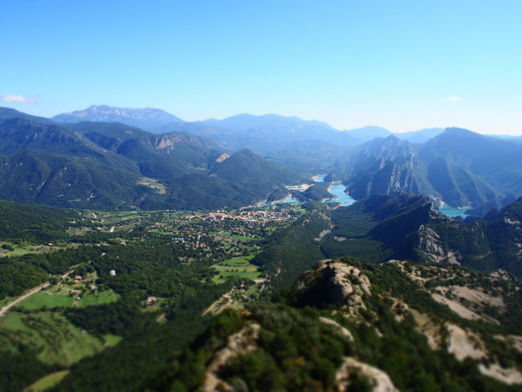 Sant Lorrenc de Morunys Catalunya Model Scale Sant Llorenç De Morunys Scale  Tilt Beauty In Nature Clear Sky Day Landscape Mountain Mountain Range Nature No People Outdoors Scenics Sky Tiltshift Tranquil Scene Tranquility EyeEmNewHere
