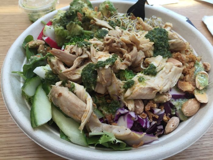 Full fancy salad with pulled chicken and avocado Foodspotting