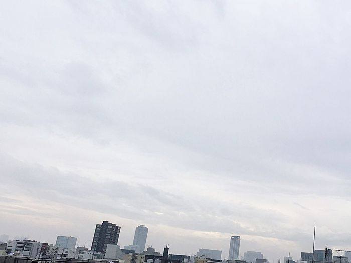 I wonder if it will be sunny tomorrow. Sky Cloud Cityscape Urban Skyline No People