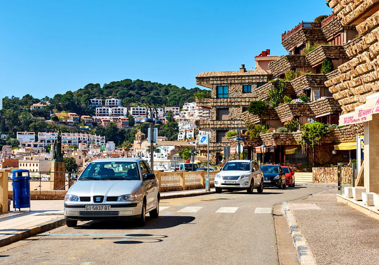 Tossa de Mar, Spain - April 7, 2016: Seafront promenade of Tossa del Mar, Costa Brava. Catalonia, Spain Cars Costa Brava Day Editorial  Europe Girona Landscape Mediterranean  Outdoors Promenade Road Roadside Seafront Seaside SPAIN Street Summer Tossa De Mar Tourist Resort Town Transportation Travel Destinations Tropical Climate Urban Vila Vella