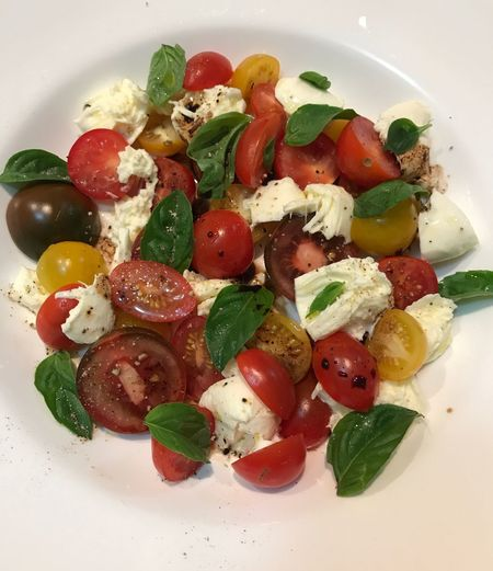 Food And Drink Basil Food Tomato Freshness Salad Healthy Eating