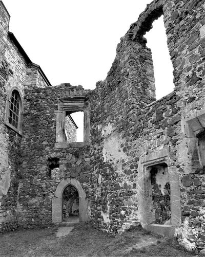 Black & White Czech Republic Abandoned Arch Architecture Black And White Blackandwhite Building Building Exterior Built Structure Damaged Day Deterioration History Medieval No People Old Outdoors Ruined Run-down Stone Wall The Past Wall Weathered Window