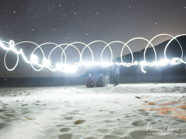 Long Exposure Night Light Trail Illuminated