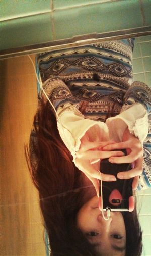 Upside Down.  School... No Make-up blah.
