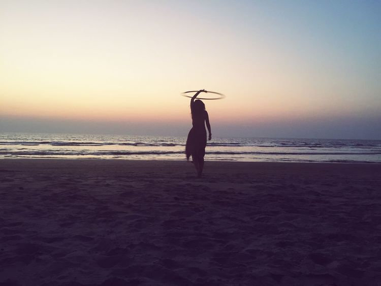 Goa Yoga India Meditation Beach Retreat Hulahoop Sunset Sea Relaxing