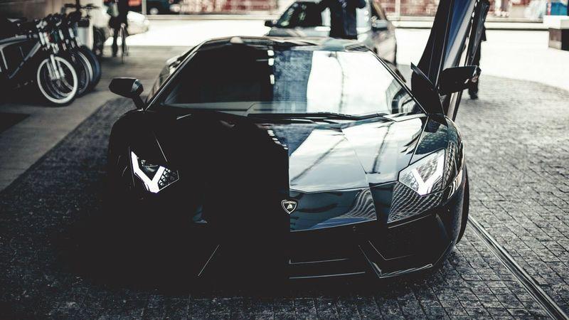 Black Car Lamborghini