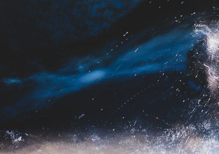Full frame shot of blue sky at night