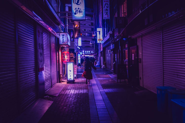 Neo Tokyo Women Woman Alone Ikebukuro Backstreets & Alleyways Urban Narrow Street Street Photography Run Running Nightlife Japan Tokyo Dark Technology Japan Travel Atmospheric Mood Architecture Building Exterior Built Structure Night City Real People Illuminated Street Footpath Walking Lifestyles People Leisure Activity Lighting Equipment Building City Life Sidewalk Adult My Best Photo 17.62°