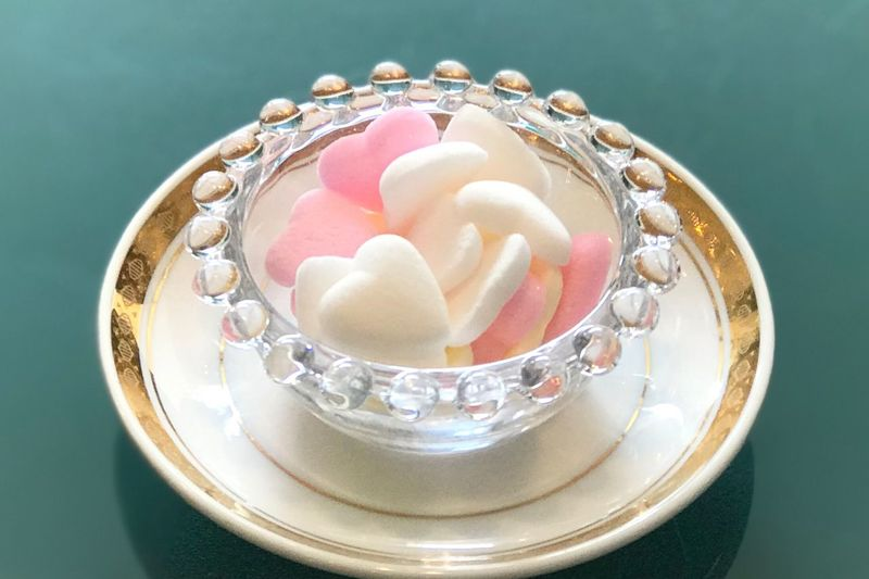 Sugar Sugar Shape Of Heart High Angle View Table Food And Drink Sweet Food Indoors  No People Close-up