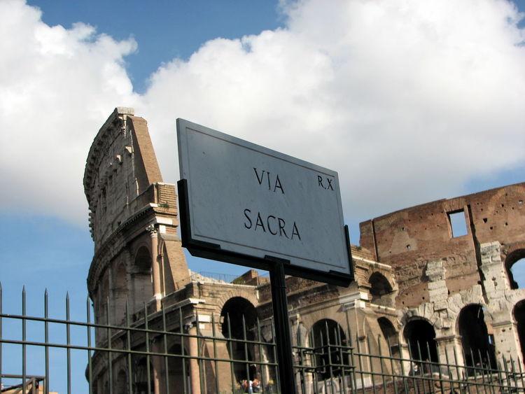 Via Sacra Architecture Colessuem Famous Place History Italy Rome Tourism Travel Destinations Via Sacra
