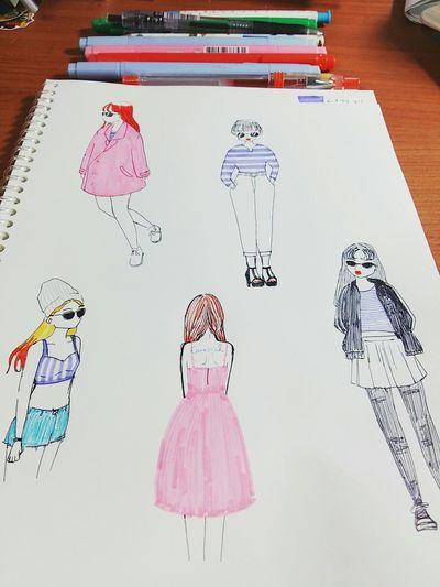 오랜만에 그림! DODO★ Fashion Scatch