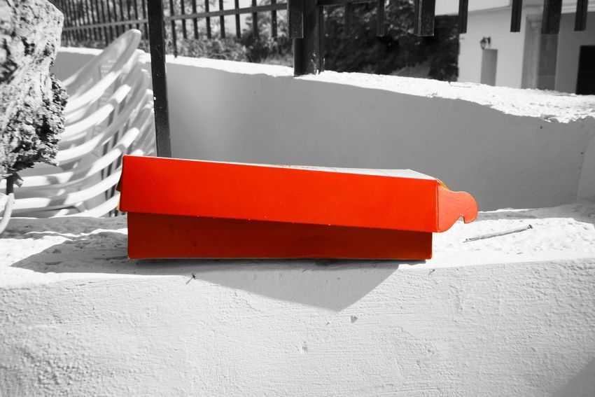Wall Red Box Day Nature Sunlight Built Structure Architecture Outdoors Building Exterior White Color