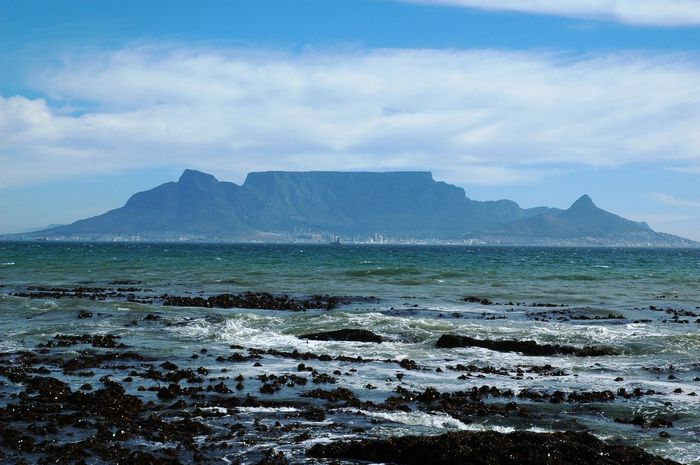 Table Mountain Beauty In Nature Cloud - Sky Mountain Nature No People Scenics - Nature Sea Tranquil Scene Water