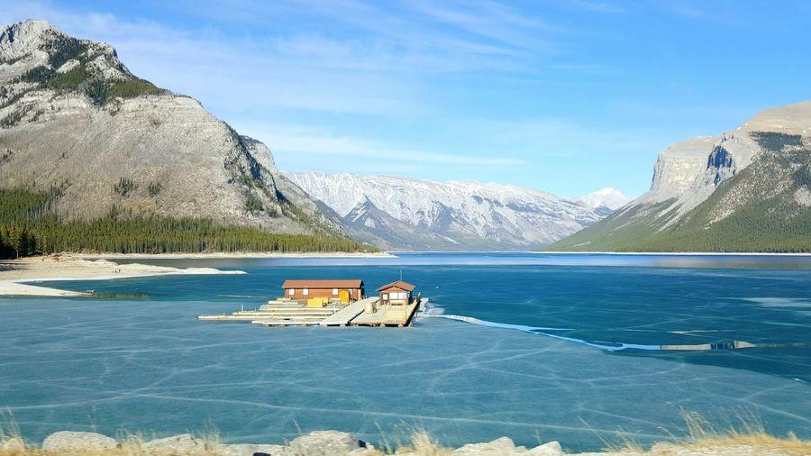 Vacations Majestic Scenics Lakeminnewanka Alberta Canada Tourist Attraction  Travel Photography Travelgram Instatravel Instalove Shades Of Winter