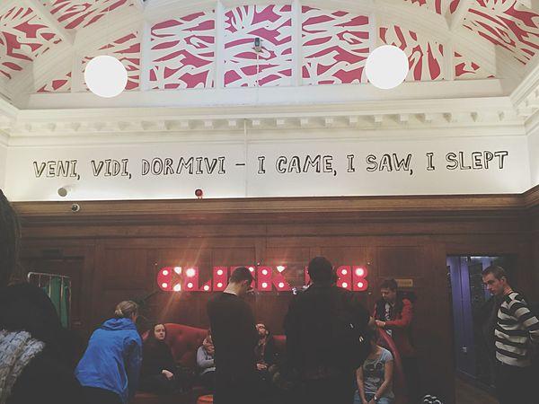 Clink78~Veni, vedi, dormivi - I came, I saw, I slept - Je suis venu, j'ai vu, j'ai dormi TheClash Punk London Trip Architecture Art Perfectmoments Youth Hostel London Holiday