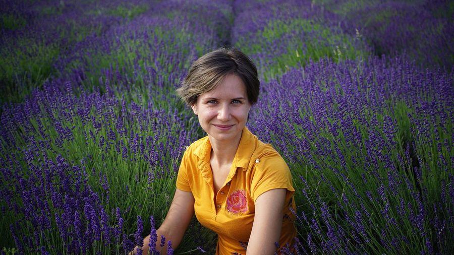 Portrait of woman on lavender field