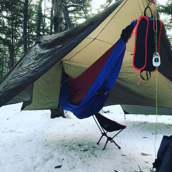 Winter hammock camping Day Full Length Low Section Hanging One Man Only Adult