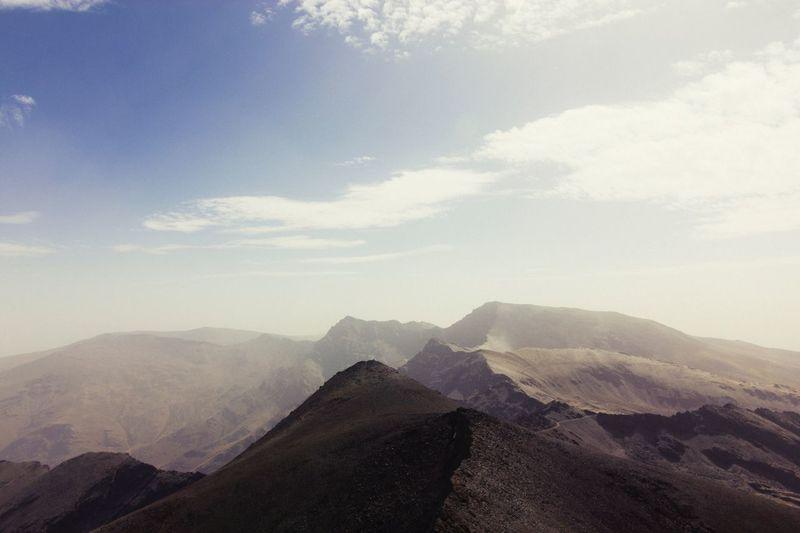 Breathtaking view. Mountain Scenics Mountain Range Tranquility Beauty In Nature Sky Sierra Nevada Andalucía SPAIN Wandering