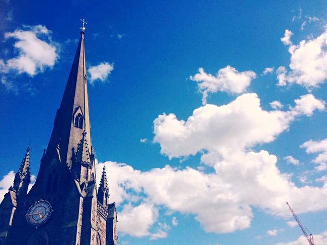 Tick Tock Cathedral Cloud - Sky Sky Low Angle View Day Outdoors No People The Graphic City Architecture