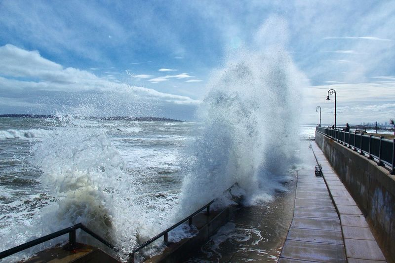 Lynn shore drive Motion Power In Nature Force Sea Breaking Water Crash