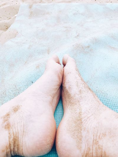 Sandy feet Outdoors Anatomy Skin Bare Feet Foot Feet Sandy Tranquil Scene Human Body Part Body Part Human Leg One Person Lifestyles Real People Personal Perspective Relaxation Sand Human Foot barefoot Women Low Section High Angle View Leisure Activity Adult Limb Human Limb Land