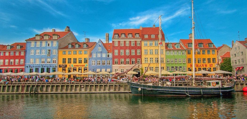 Architecture Building Exterior Built Structure Waterfront City Urban Geometry Architecture_collection Historical Nyhavn