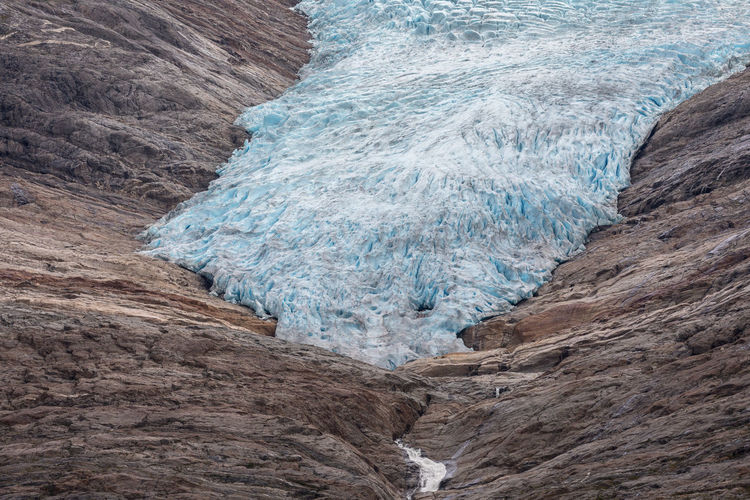 Glacier On Rock Formation