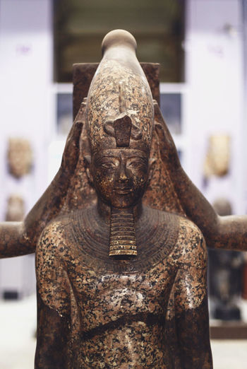 Close-Up Of Pharaoh In Museum