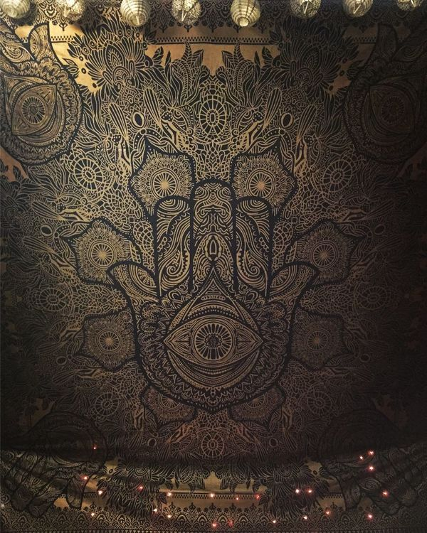 Karmandala Pattern Backgrounds No People Lights Check This Out Taking Photos Mandala Wallhanging Oriental Psychedelic
