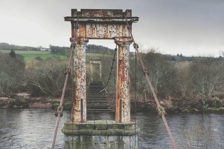 The shakkin brig Outdoors Uk Bridge Derelict Abandoned Rust Historic History Scotland Historic Scotland Aberdeenshire Cults Landscape River Dee  Vintage Rustic Architecture Aberdeen Suspension Bridge