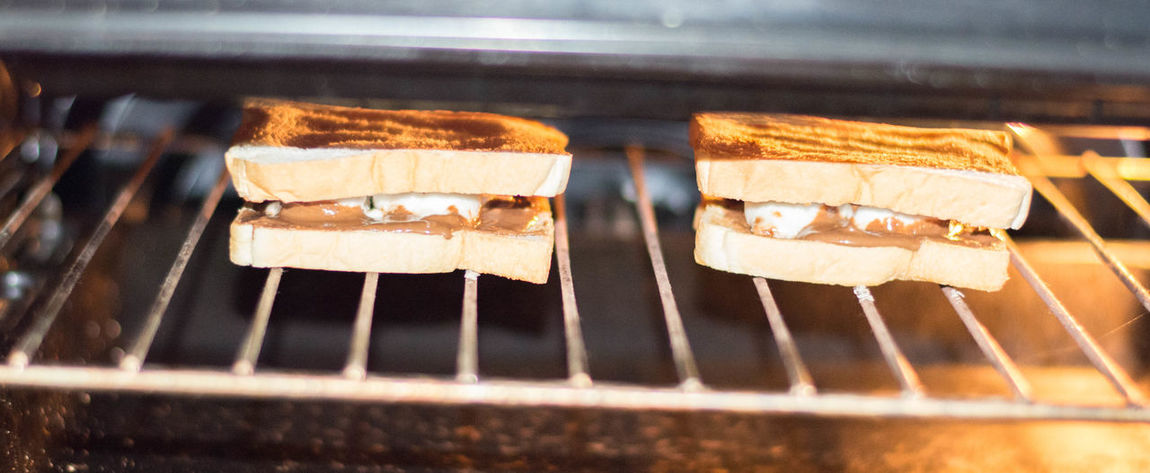 Delicious ♡ Food Food And Drink Freshness Home Made Food Marshmallow Nutella Sweet Food Toasted Sandwich Unhealthy Eating