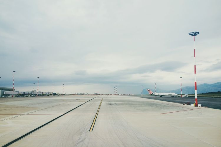 Palermo PMO airport Distant Vast Aircraft Emptiness Lines Parallel Perspective Empty Nobody Airport Tarmac EyeEm Selects Perspective Empty Nobody Airport Tarmac EyeEm Selects