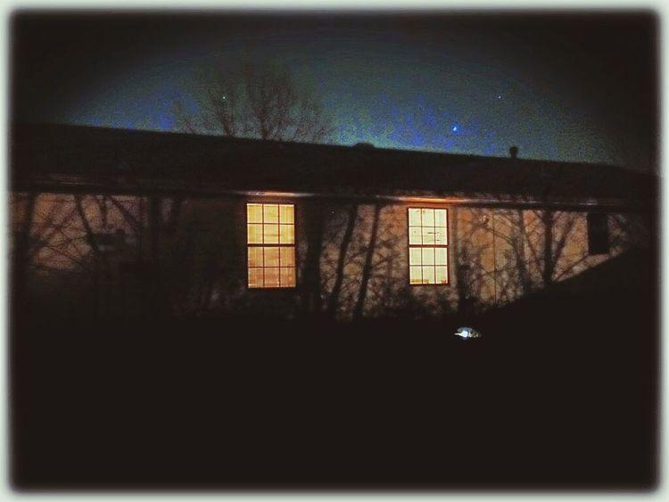 Shadow Play Nightphotography My Back Yard