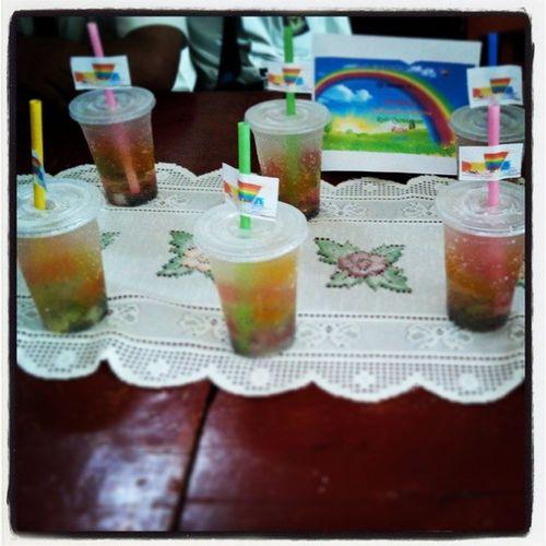 """My beautiful product !!! """"The Ice rainbow soda"""" !! :* Ice Beautifull Nice Nndaeyes nndaeyesIG"""